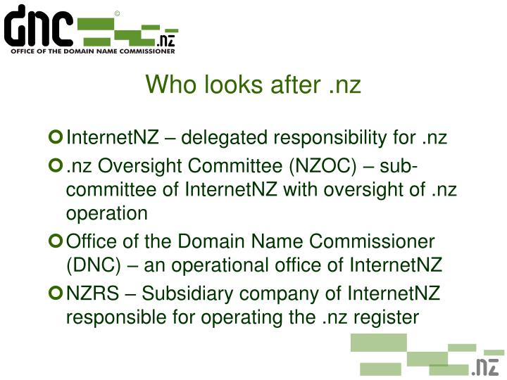 Who looks after nz
