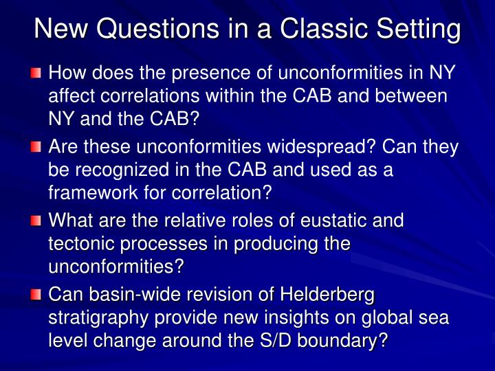 New Questions in a Classic Setting