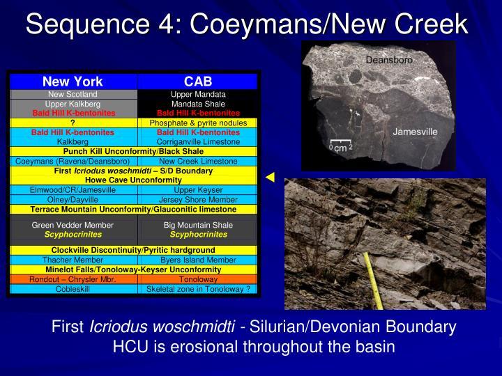 Sequence 4: Coeymans/New Creek