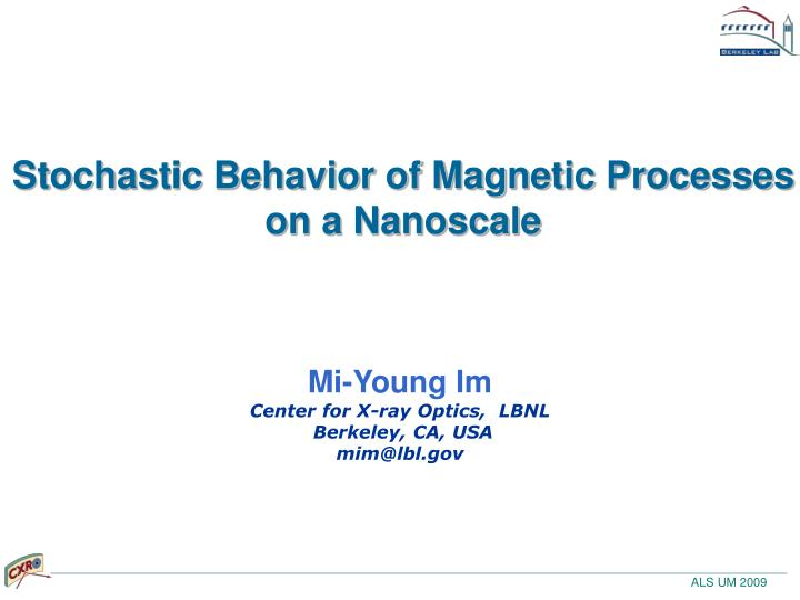 Stochastic behavior of magnetic processes on a nanoscale