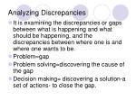 analyzing discrepancies
