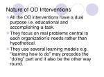 nature of od interventions