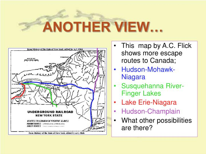 Underground Railroad New York Map.Ppt Underground Railroad In New York State Powerpoint Presentation