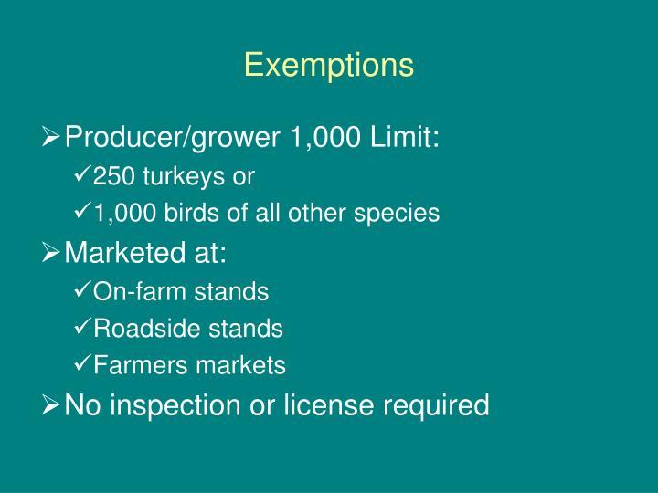 Exemptions1