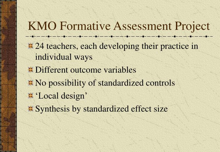 KMO Formative Assessment Project