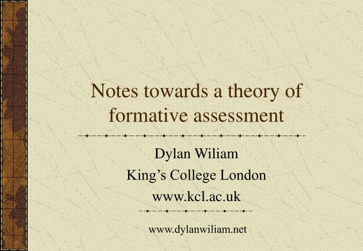 Notes towards a theory of formative assessment