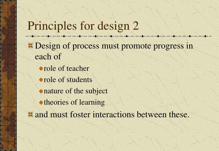 Principles for design 2