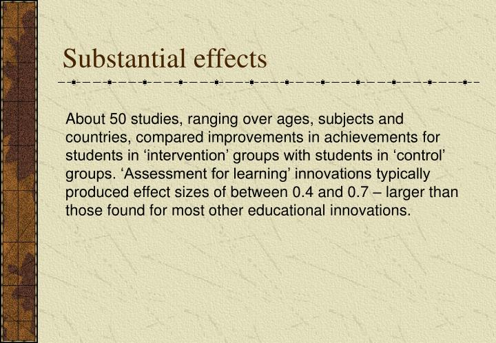 Substantial effects