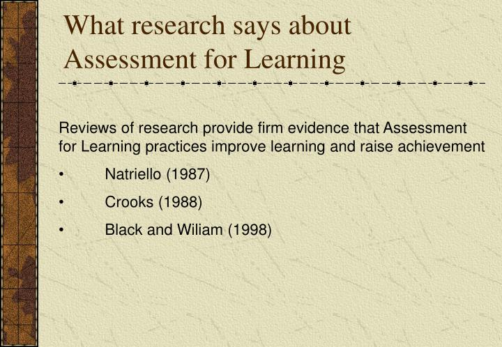 What research says about