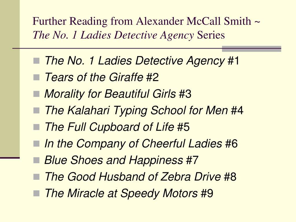 The no1 ladies detective agency