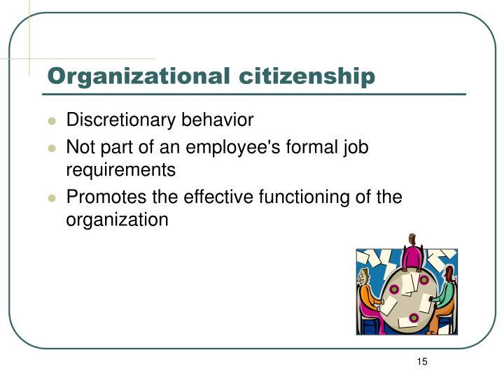 discretionary behavior