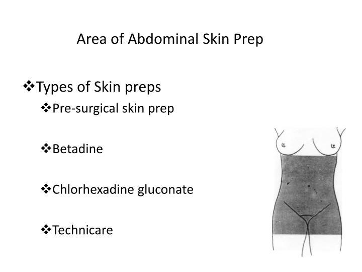 Area of Abdominal Skin Prep