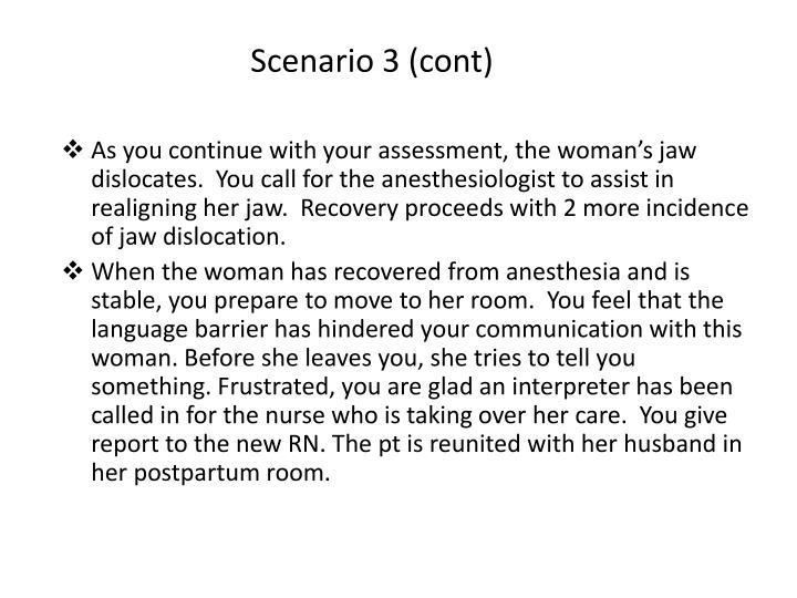 Scenario 3 (cont)