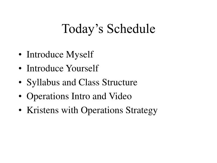 operations management syllabus First year syllabus for operations management- semester i: principles of management, financial accounting, human resource management, marketing principles, managerial economics.