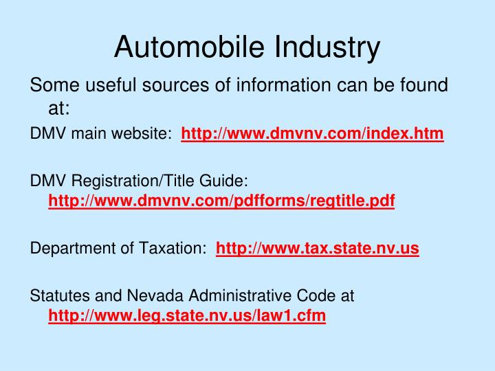 Ppt State Of Nevada Department Of Taxation Powerpoint Presentation