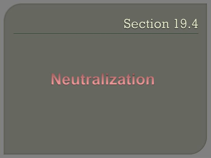 Section 19.4