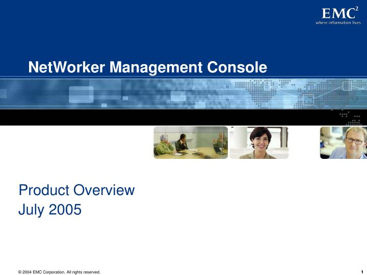 networker management console n.