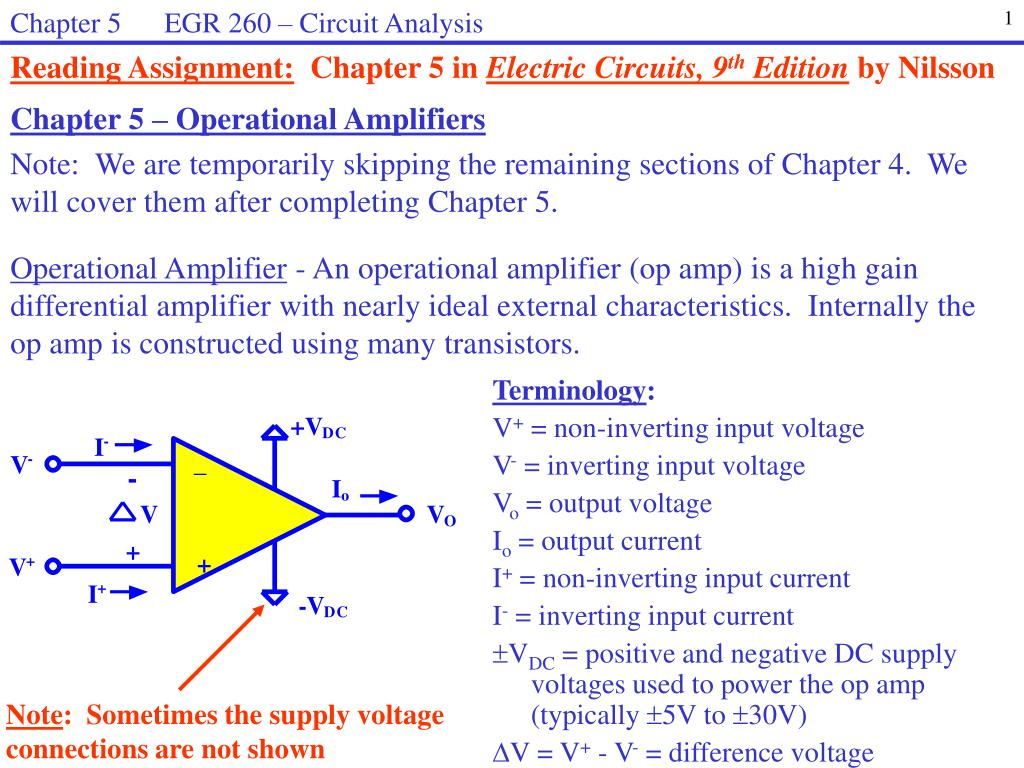 Ppt Chapter 5 Operational Amplifiers Powerpoint Presentation Basic Op Amp Circuits Circuit Id3209088