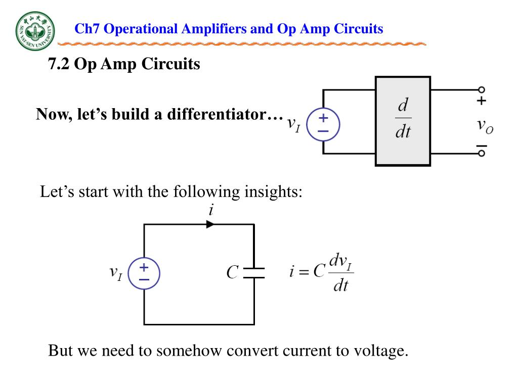 PPT - Ch7 Operational Amplifiers and Op Amp Circuits