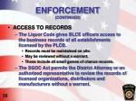enforcement continued