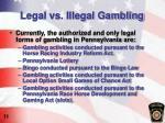 legal vs illegal gambling