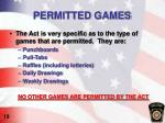permitted games