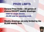 prize limits