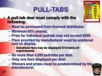 pull tabs