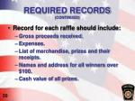 required records continued1