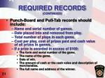 required records continued2