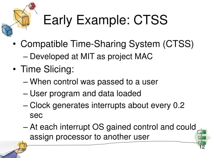 Early Example: CTSS