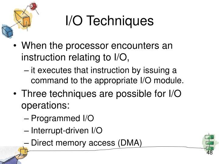 I/O Techniques