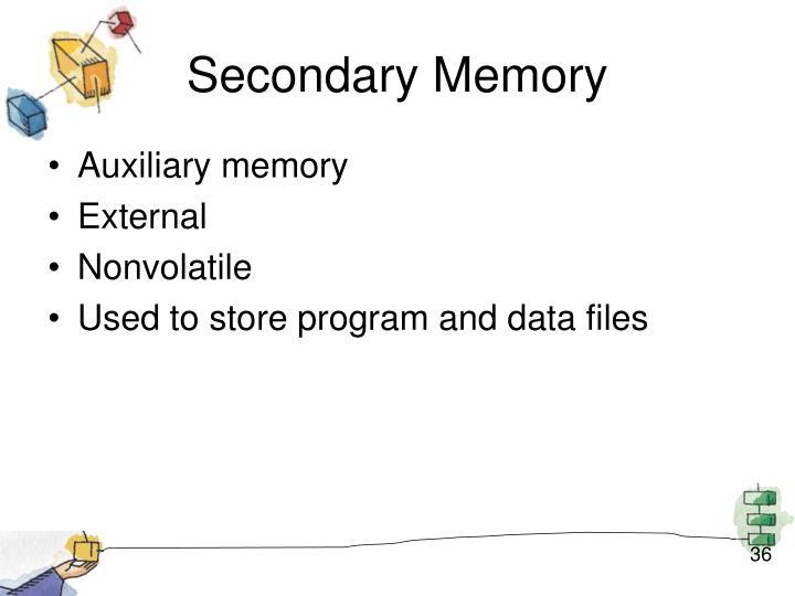 Secondary Memory
