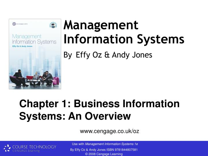 management information systems by effy oz andy jones n.