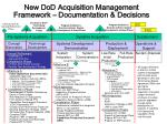 new dod acquisition management framework documentation decisions