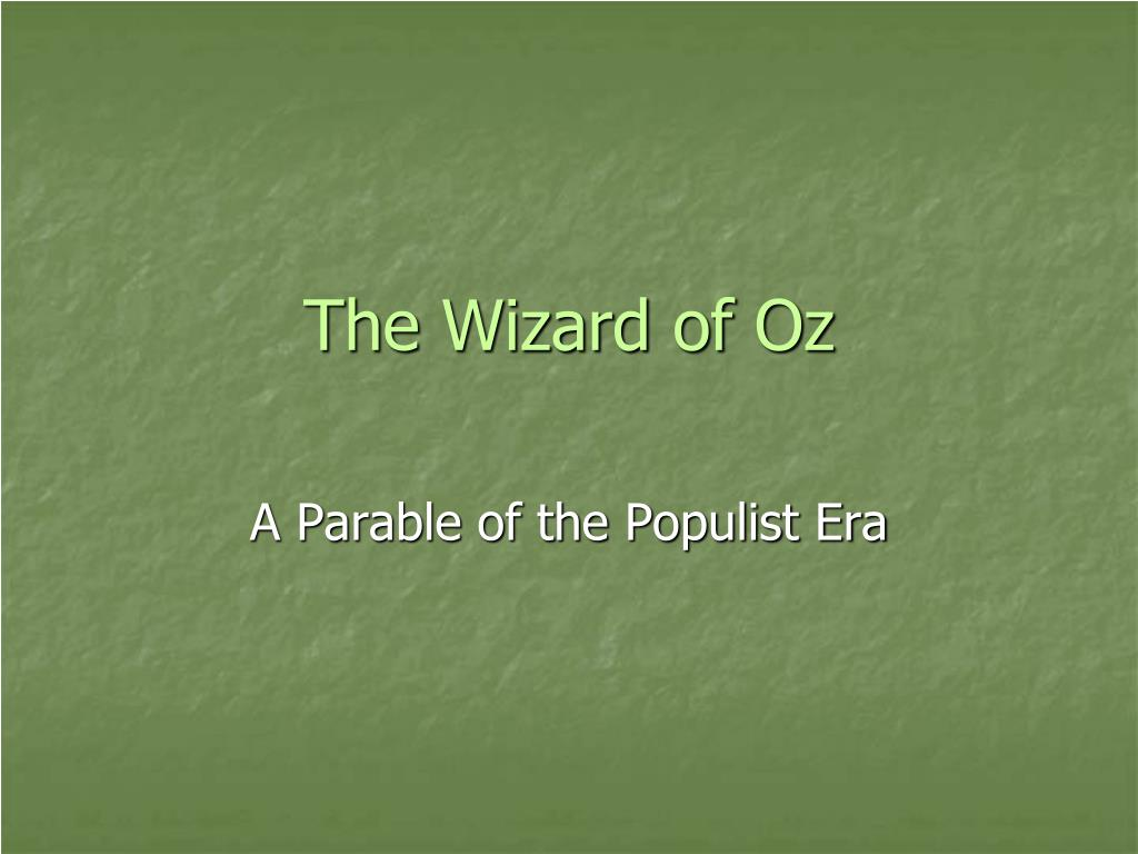 wizard of oz parable