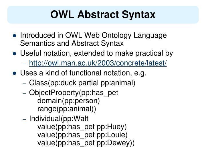 Ppt Owl Abstract Syntax And Reasoning Examples Powerpoint