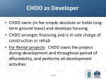 chdo as developer