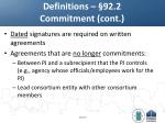 definitions 92 2 commitment cont