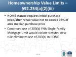 homeownership value limits 92 254 a 2 iii