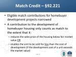match credit 92 221