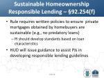 sustainable homeownership responsible lending 92 254 f
