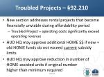 troubled projects 92 210