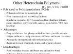 other heterochain polymers5