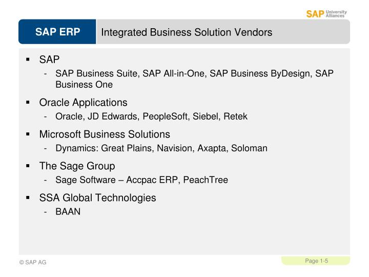 Integrated Business Solution Vendors