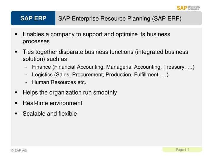 SAP Enterprise Resource Planning (SAP ERP)