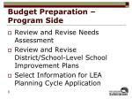 budget preparation program side