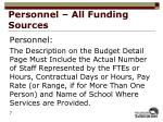 personnel all funding sources