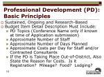 professional development pd basic principles