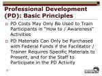 professional development pd basic principles1
